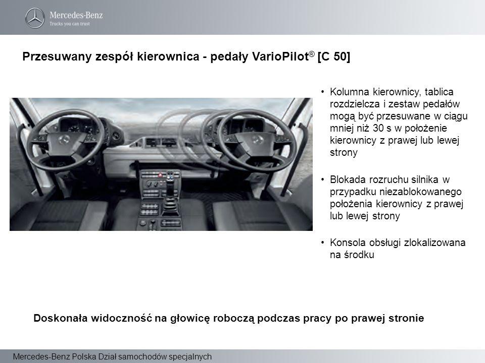 Przesuwany zespół kierownica - pedały VarioPilot® [C 50]